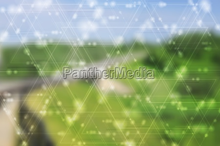 abstract landscape backdrop and tech shiny