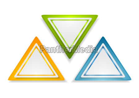 abstract bright triangle stickers