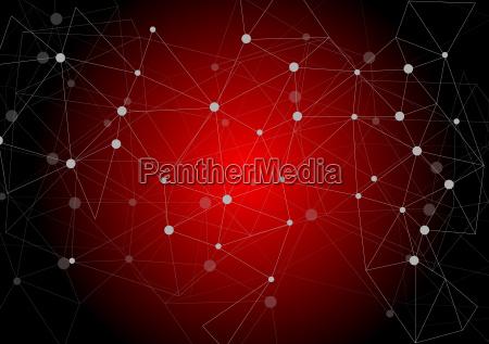 dark red polygonal communication background