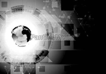 black shiny abstract technology background