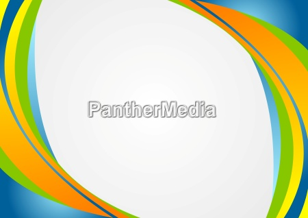 abstract colorful corporate wavy background
