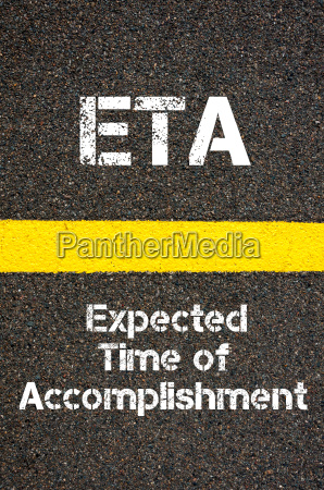 business acronym eta expected time of