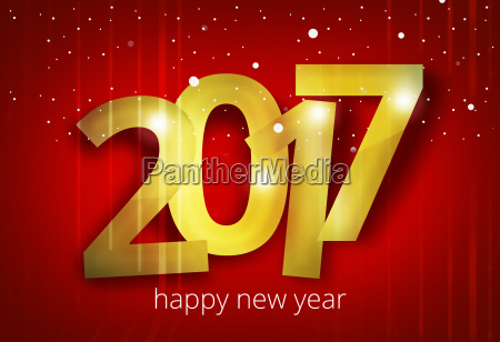 happy new year 2017 3d render