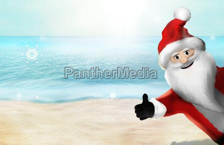 christmas at the beach santa claus