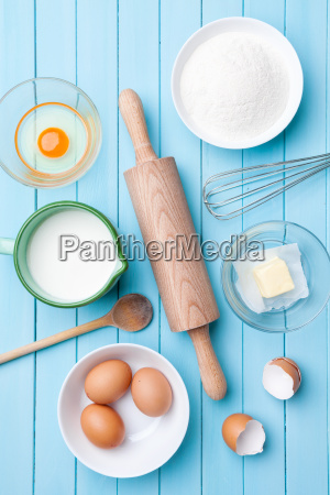 baking and cooking concept variety of