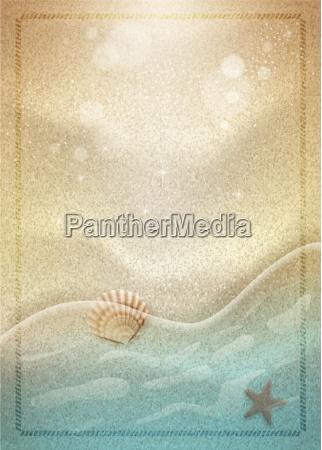 summer beach sand