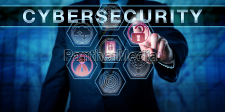 security engineer pushing cybersecurity