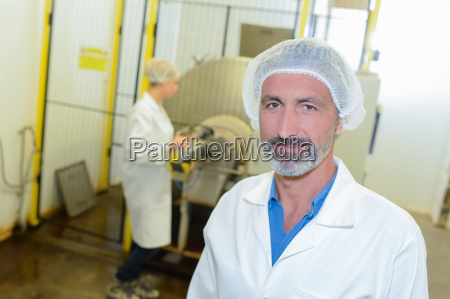 man in the factory