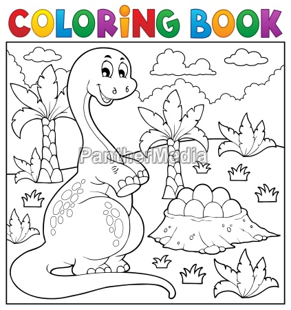coloring book dinosaur topic 8