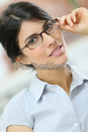 portrait of beautiful young woman with