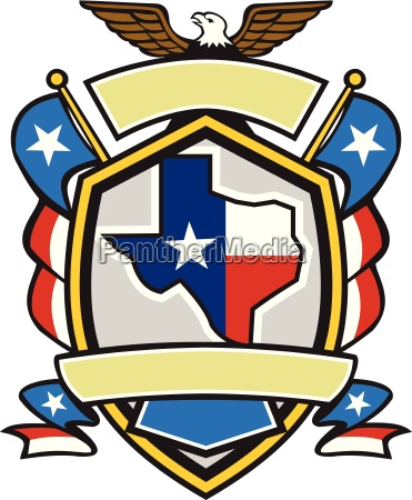 texas state map flag coat of