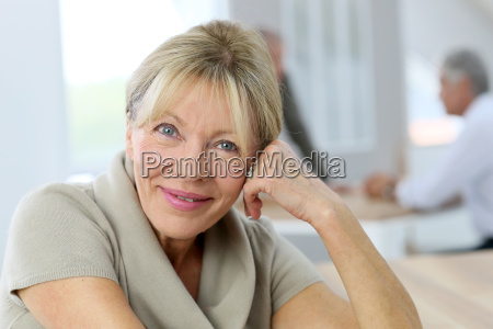 portrait of smiling senior woman people