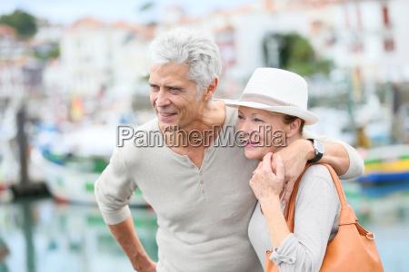 senior couple enjoying journey in tourist