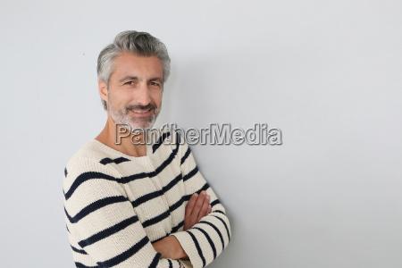 portrait of handsome mature man on
