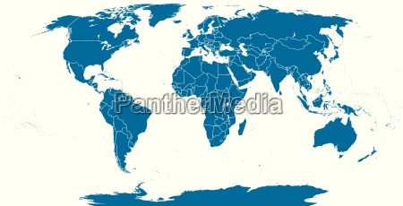 world political map outline