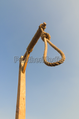 gallows on the sky background