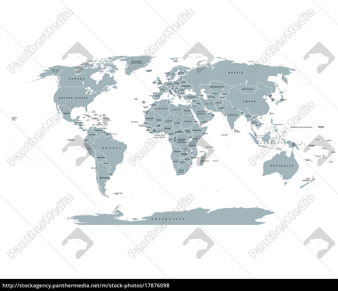 royalty free vector 17876098 - World Political Map
