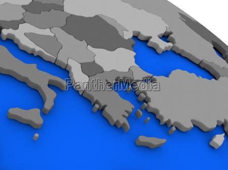 greece on political earth model