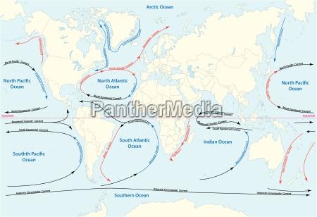 vector world map with major marine