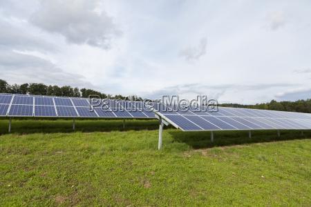 solar cells in a solar park