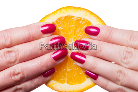hand insulated with well groomed fingernails