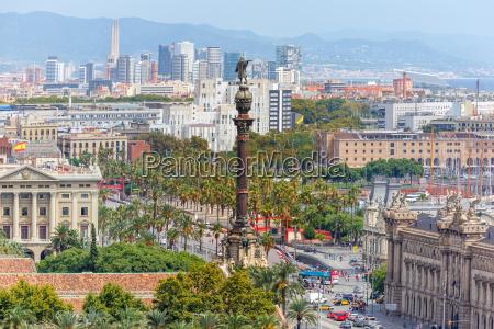 mirador de colom in barcelona spain