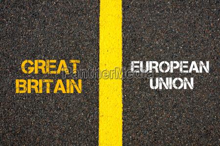 antonym concept of great britain versus