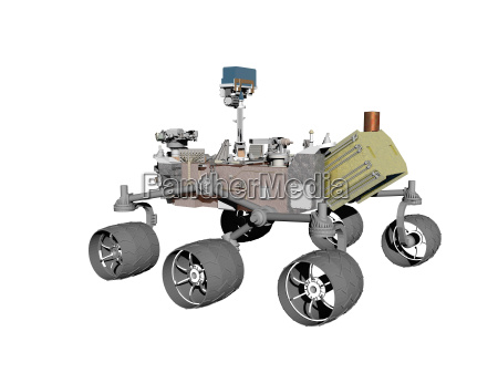 mars rover with camera isolated
