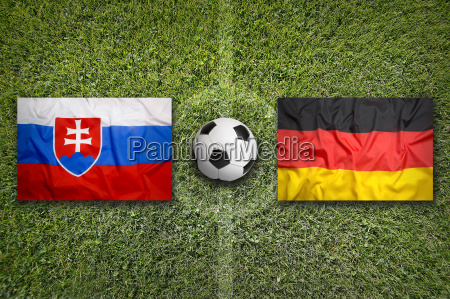 slovakia vs germany flags on soccer