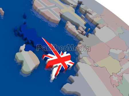united kingdom with flag