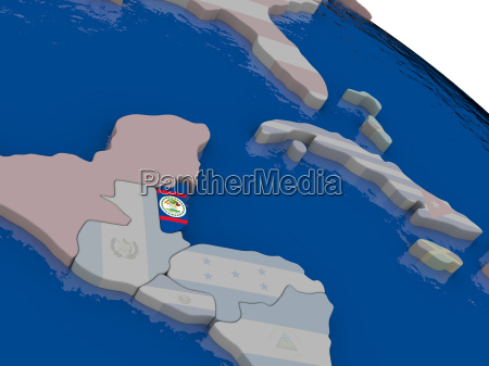 belize with flag