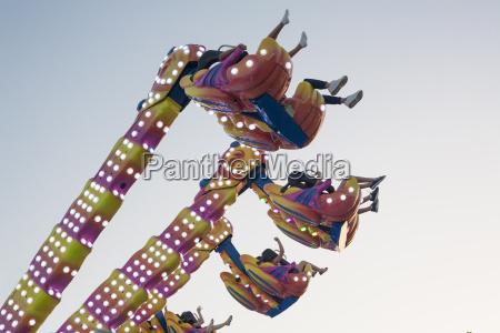 hanging funfair attraction