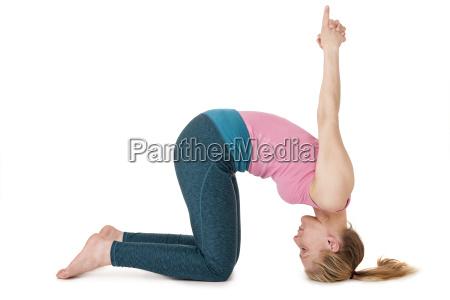 yoga woman pink position113