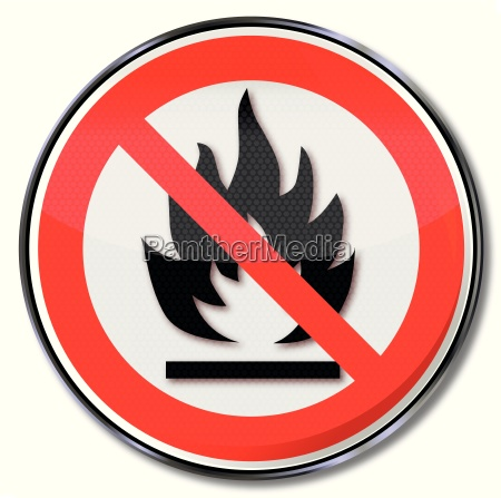 prohibition sign for open fires and