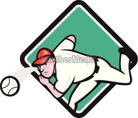 baseball pitcher outfielder throw ball diamond