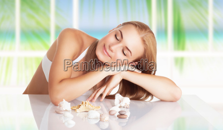 woman on the spa resort