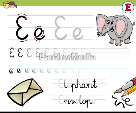 how to write letter e