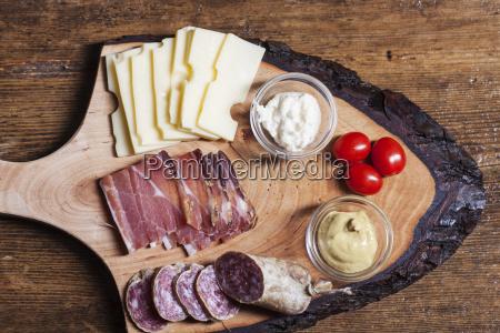 tyrolean specialties on wood