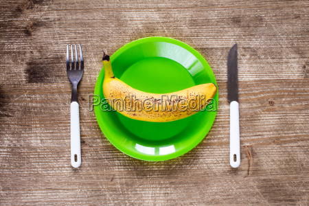 fork knife and green plate with