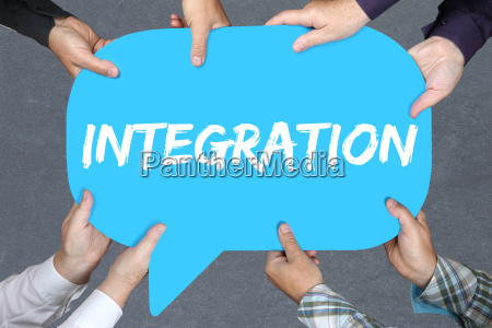 group of people hold integration foreigners