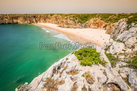 beautiful bay and sandy beach of