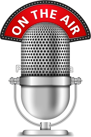 retro microphone on the air