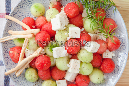 salad with feta and watermelon