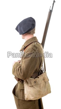 40s fransk soldat side view