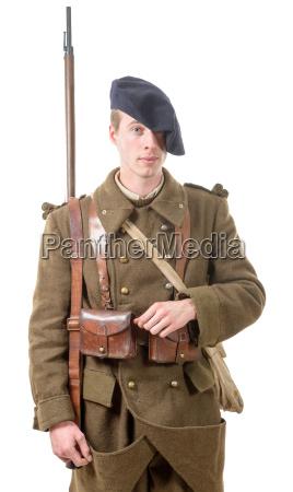 40s fransk soldat set forfra