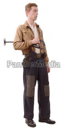 french resistance vintage clothes and weapons
