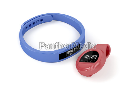 wristband and clip on activity trackers