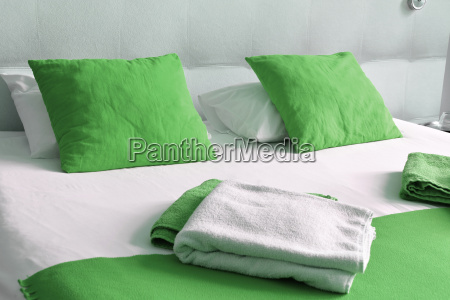 double, bed, in, hotel, room., accommodation - 17955416