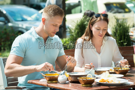 couple having lunch together