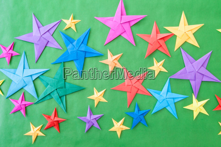 colorful origami star